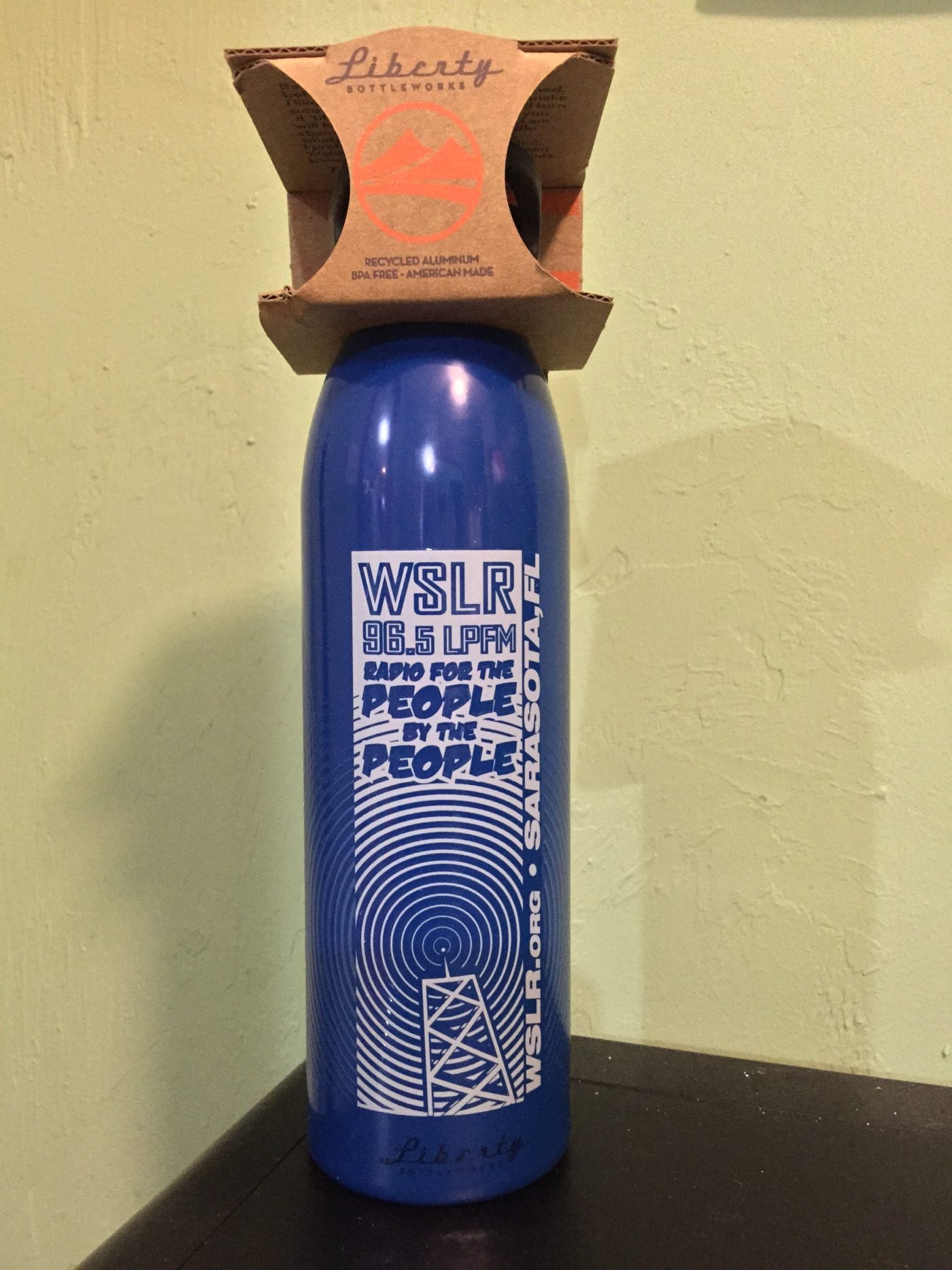 WSLR Water Bottle, Blue