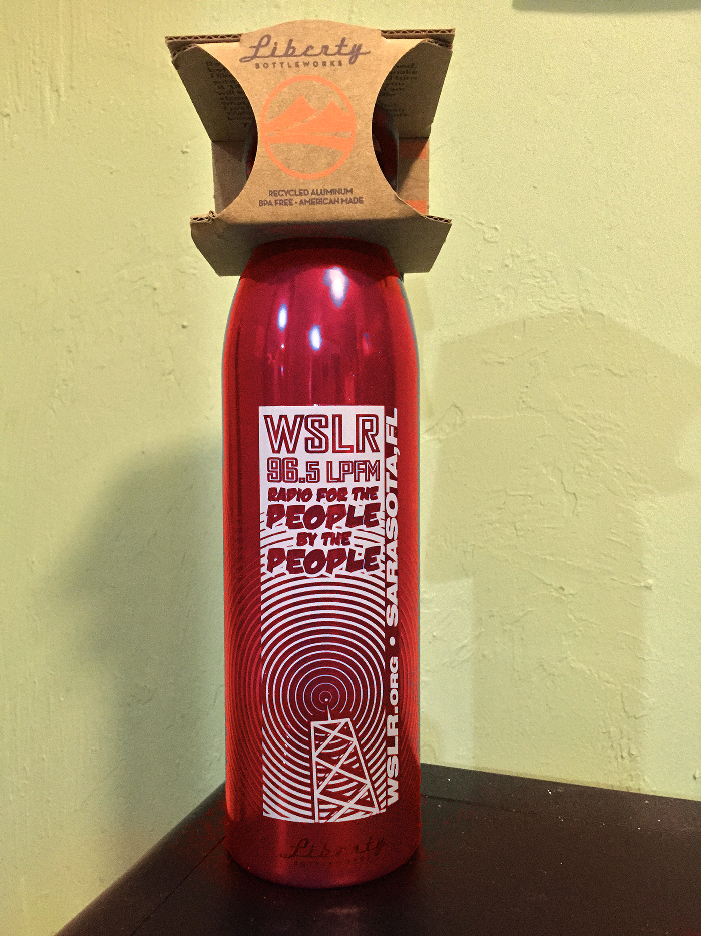 WSLR Water Bottle, Red