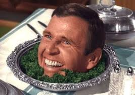 Paul Lynde head on a platter